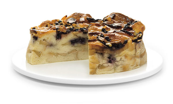 Apple Blueberry Bread and Butter Pudding